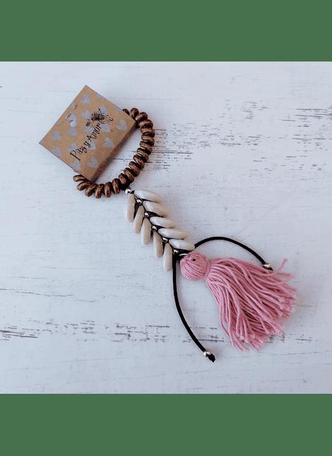 Moño Shelly cobre rosa