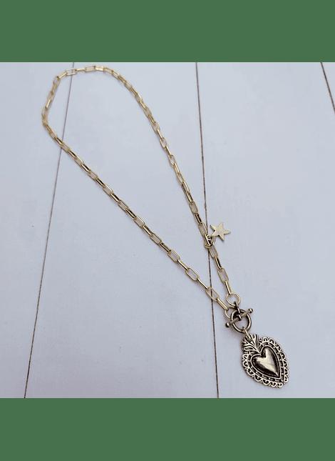 Collar timon heart S dorado