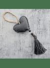 Mini manillero corazon felpa gris