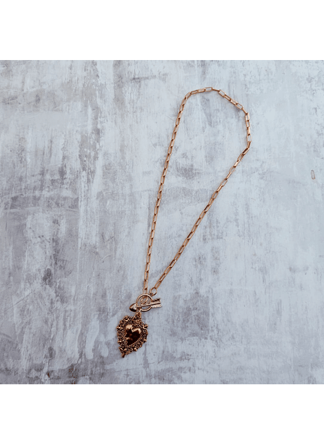 Collar timon holy heart  dorado