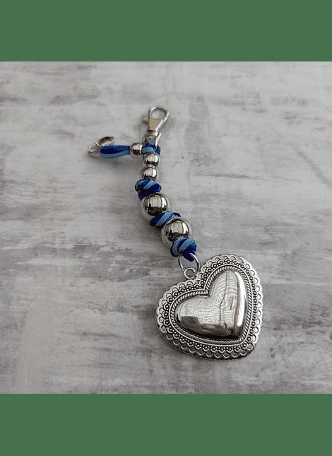 Llavero love azul
