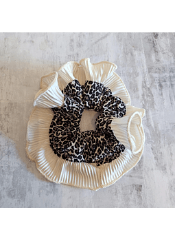 Moño meduza print crema