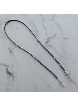 strap gamuza gris plateado