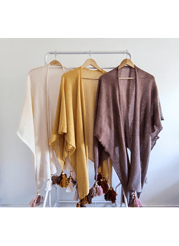 Poncho summer ocre
