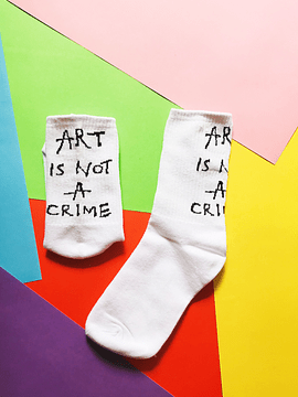 Calcetines Art is not a crime