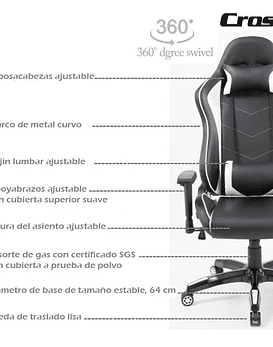Silla Gamer Crossback Sa-r-801 BLANCO