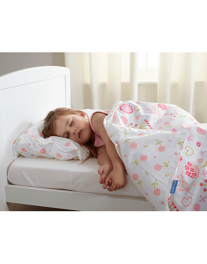 Set de cama, sábanas y cubreplumón Zip it. Tamaño Cuna. Flowers