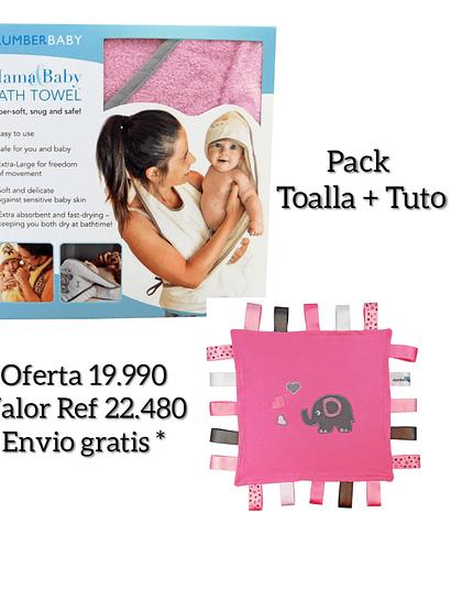 Pack Toalla Delantal Elefantito y Tuto