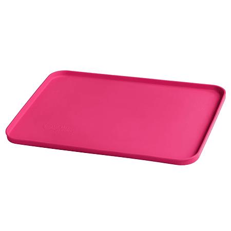 Mat Individual de Silicona Fucsia para comer con las manos