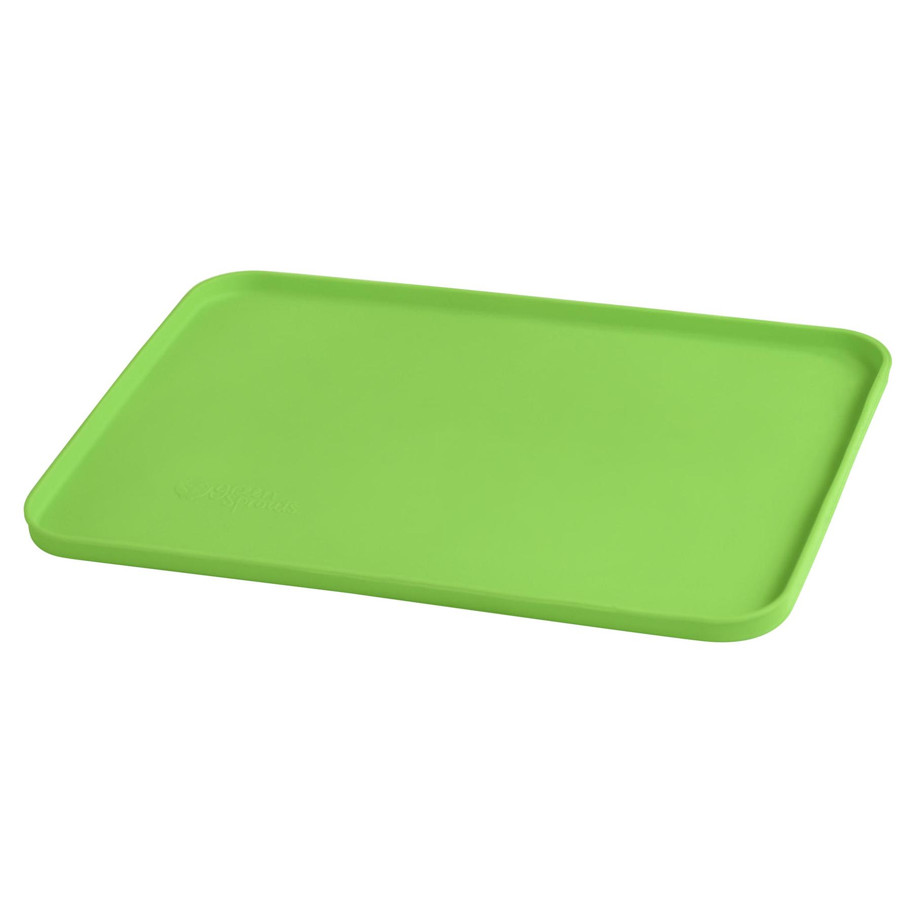 Mat Individual de Silicona Verde para comer con las manos