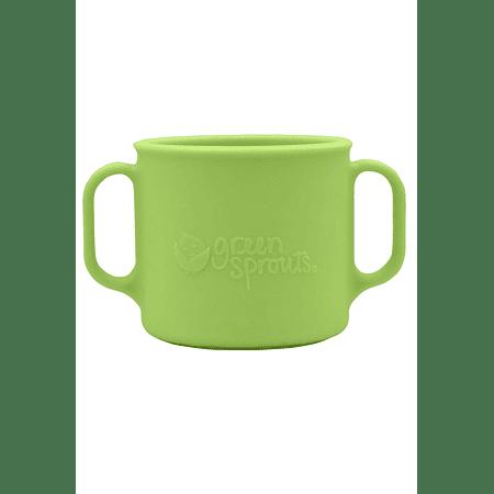 Vaso Silicona con Asas Verde +12mo