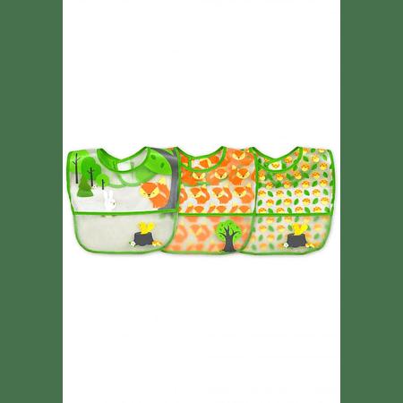 Pack de 3 Unid. Babero Limpia Fácil Verde Green Sprouts