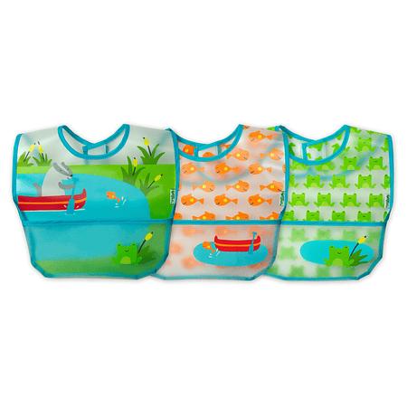 Pack de 3 Unid Babero Limpia Facil Celeste Green Sprouts