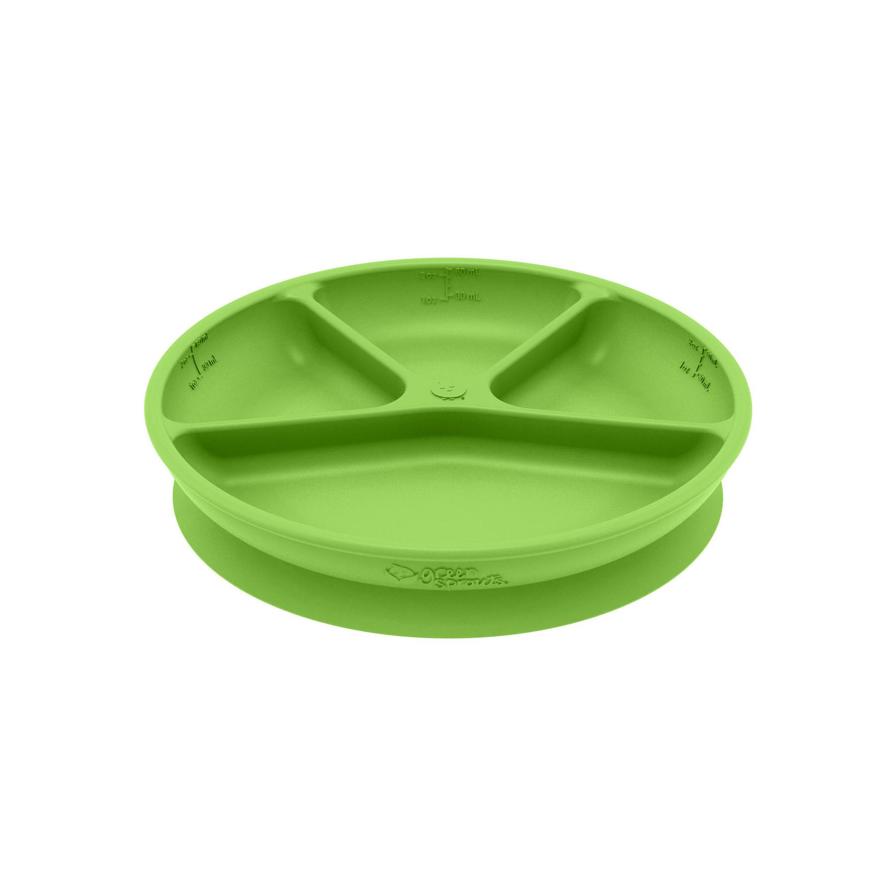 Plato Adherente 100% Silicona Verde