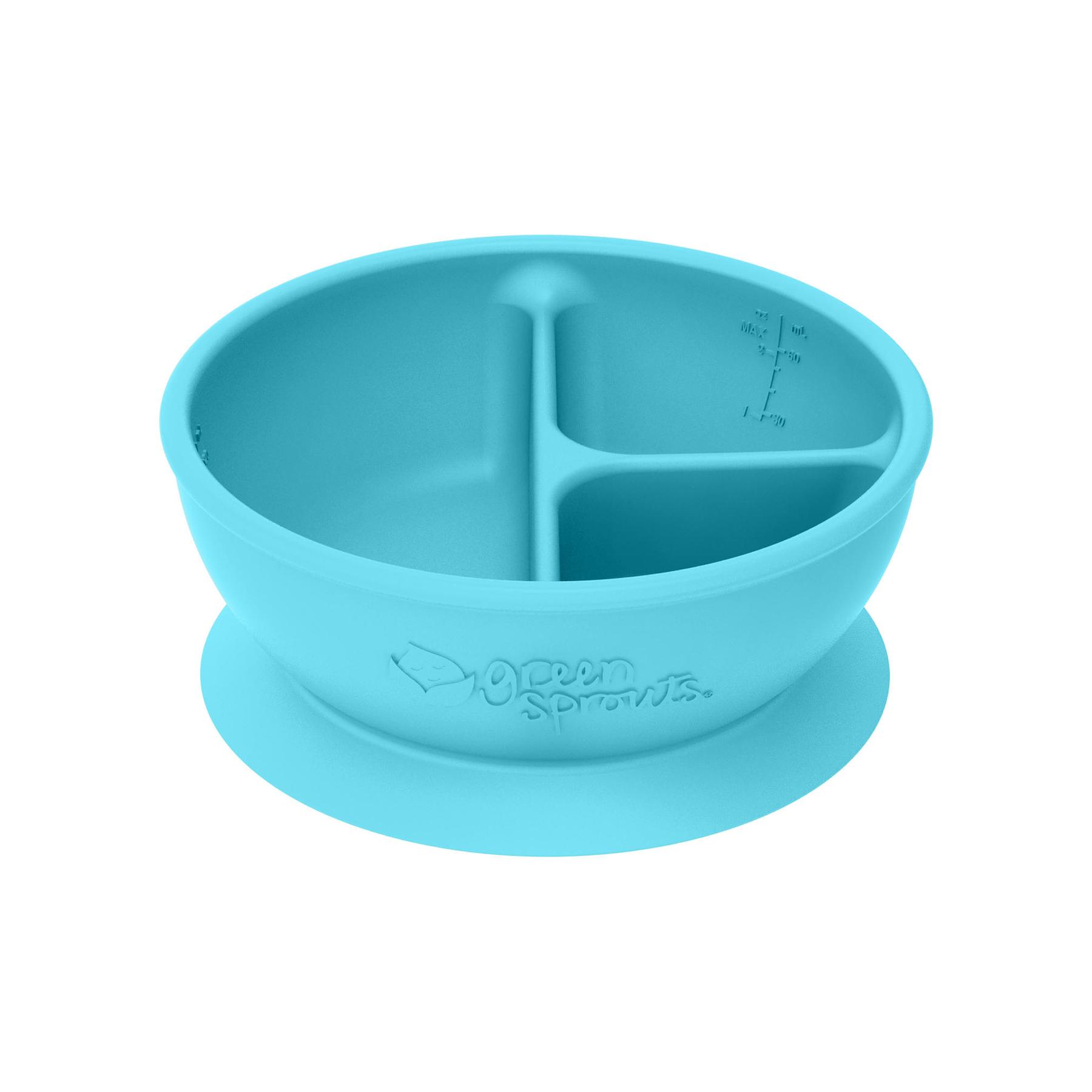 Bowl Adherente 100% Silicona Celeste