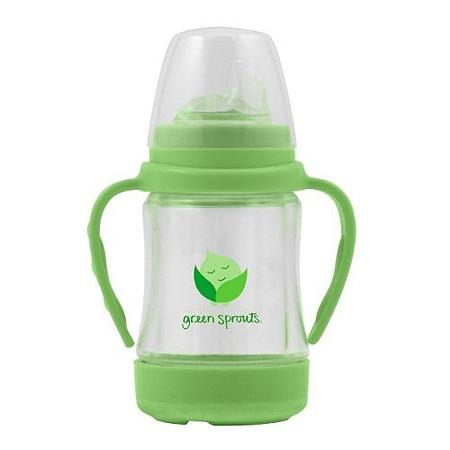 Vaso De Vidrio Con Boquilla Verde