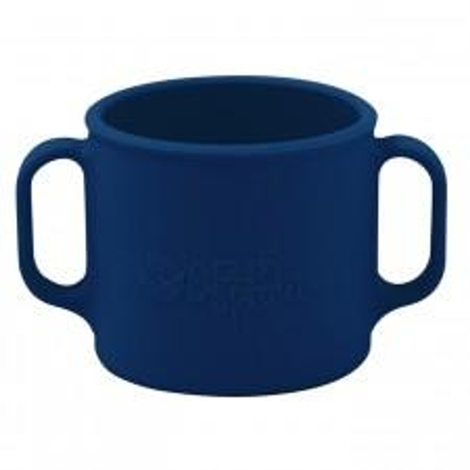 Vaso de Silicona con Asas  Azul Oscuro +12mo