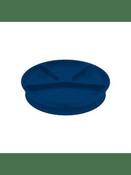 Plato Adherente 100% Silicona Azul Navy