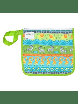 Bolsita Reusable Snack Bag Verde Safari