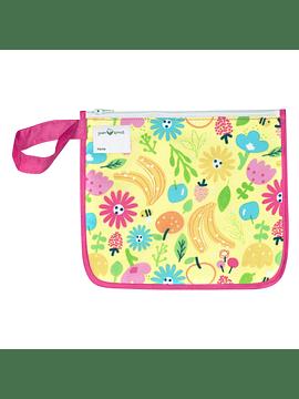 Bolsita Reusable Snack Bag Rosado Abeja Floral