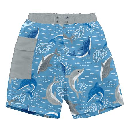 Traje de Baño Short Azul Delfin