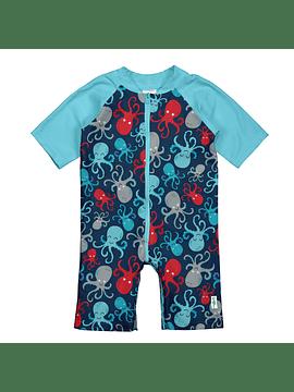Traje de Baño Swimsuit Azul Pulpo