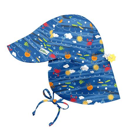 Sombrero Solid Flap Azul Sea Friends