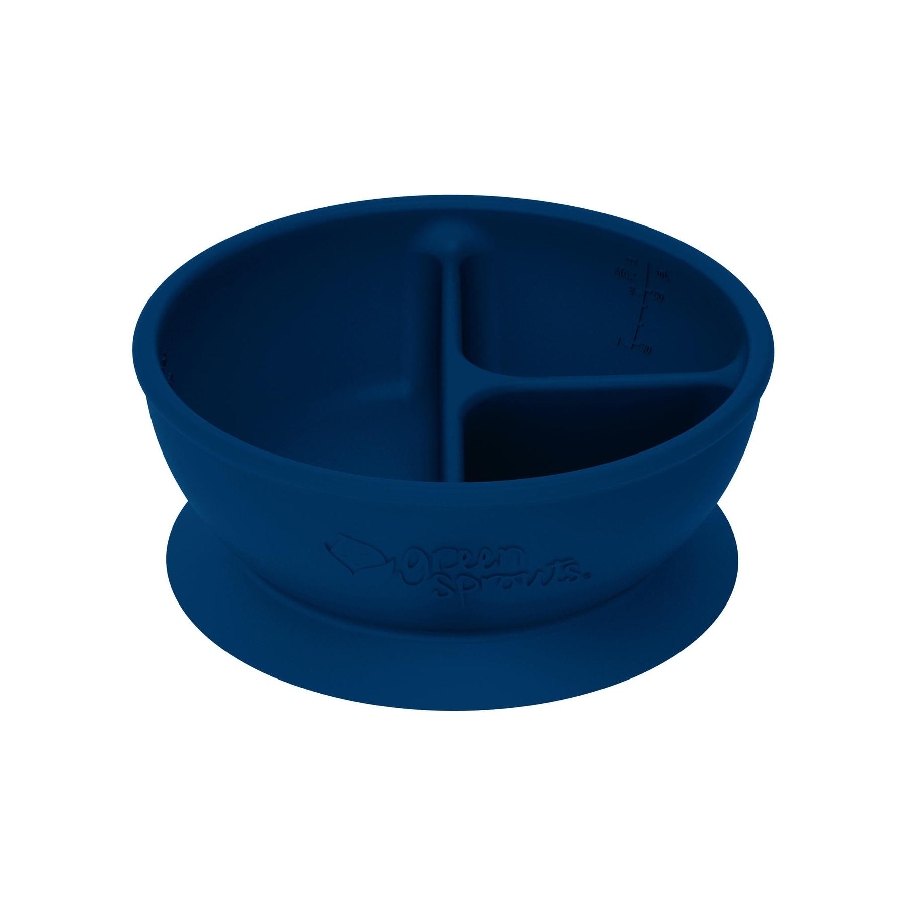 Bowl Adherente 100%  Silicona Azul Navy
