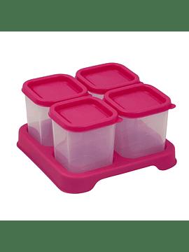 Envases de Plastico 120ml 4pack Fucsia