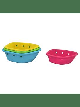 Juguete Para Apilar Barcos Multicolor De 4 Piezas, Iplay