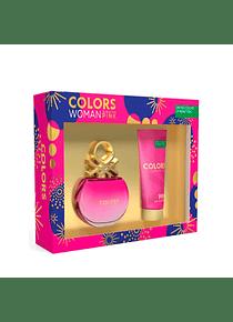 (W) ESTUCHE - Colors Pink 80 ml EDT Spray