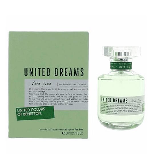 Perfume Benetton United Dreams Live Free Dama Edt 80 ml