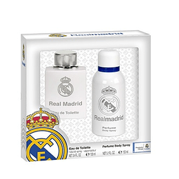 Perfume Real Madrid Varon Edt 100 ml + 150 ml Desodorante Estuche