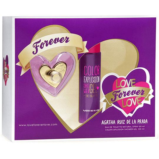 Love Forever Love para mujer / SET - 80 ml Eau De Toilette Spray