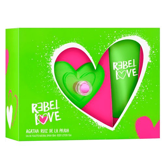 Rebel Love para mujer / SET - 80 ml Eau De Toilette Spray