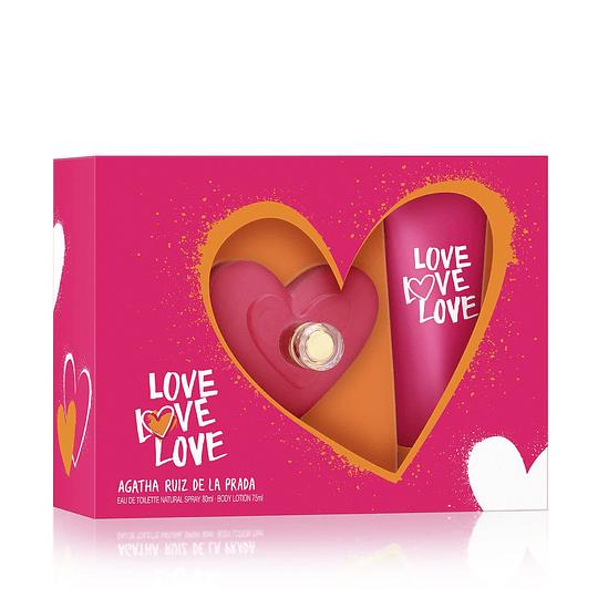 Love Love Love para mujer / SET - 80 ml Eau De Toilette Spray