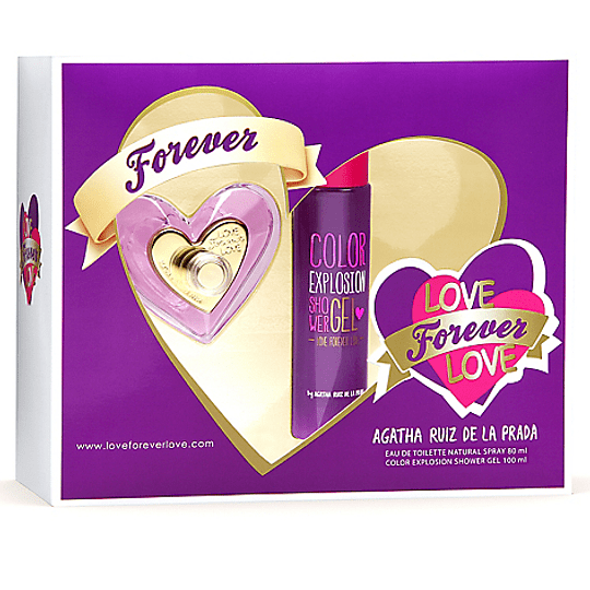Love Forever Love para mujer / SET - 80 ml Eau De Toilette Spray