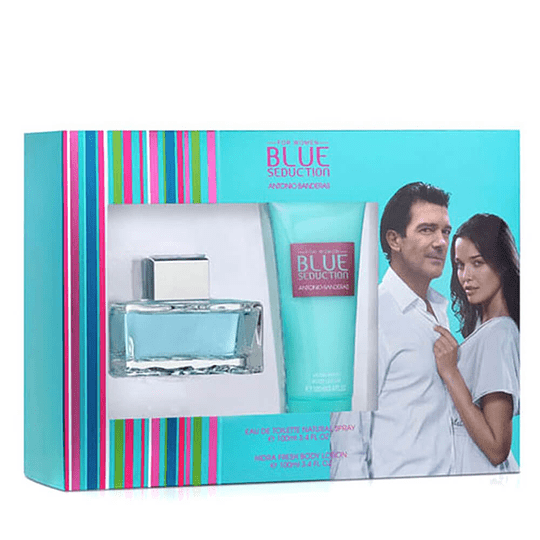 Blue Seduction para mujer / SET - 100 ml Eau De Toilette Spray