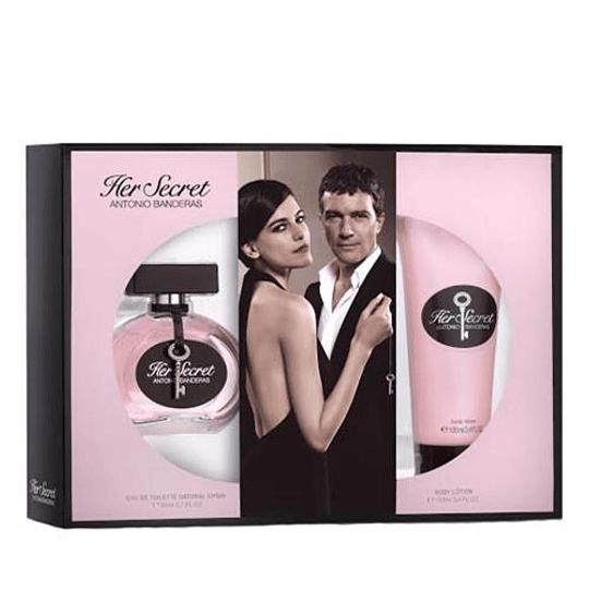 Her Secret para mujer / SET - 80 ml Eau De Toilette Spray