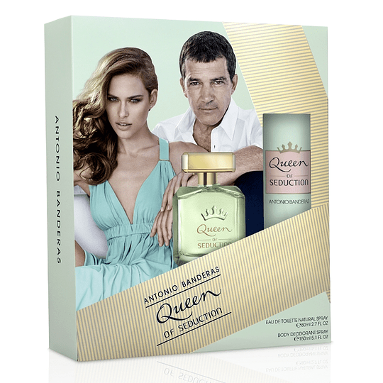 Queen of Seduction para mujer / SET - 80 ml Eau De Toilette Spray