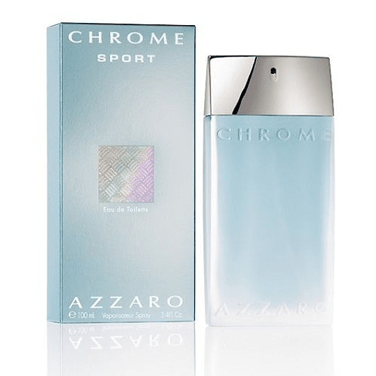 Azzaro Chrome Sport para hombre / 100 ml Eau De Toilette Spray