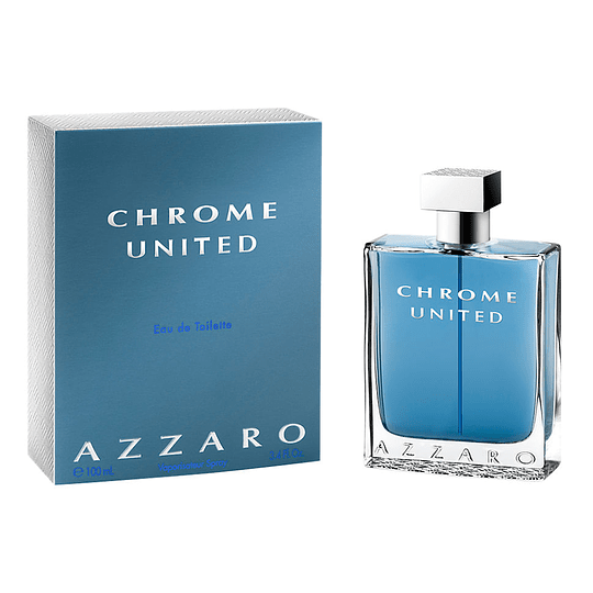 Azzaro Chrome United para hombre / 100 ml Eau De Toilette Spray