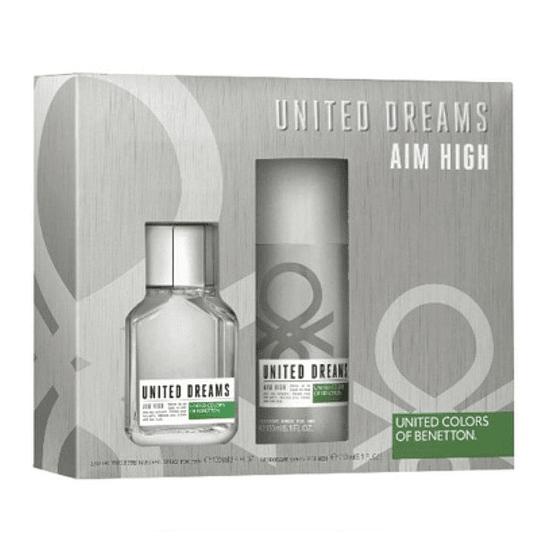 United Dreams Aim High para hombre / SET - 100 ml Eau De Toilette Spray