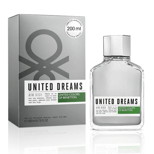 United Dreams Aim High para hombre / 200 ml Eau De Toilette Spray