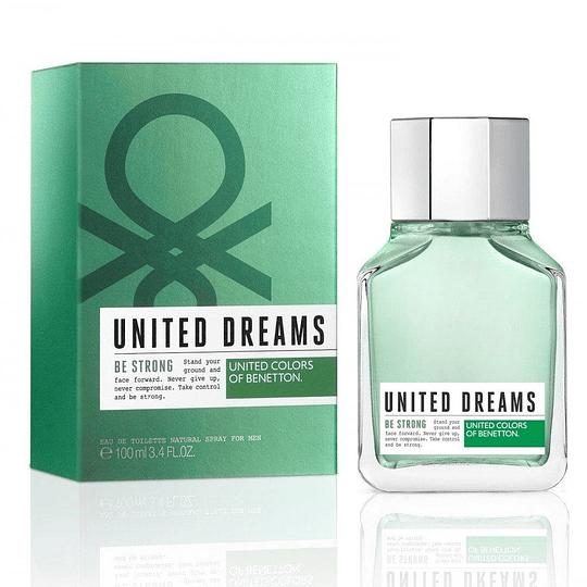 United Dreams Be Strong para hombre / 100 ml Eau De Toilette Spray
