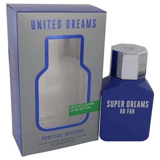 United Dreams Go Far (Super Dreams) para hombre / 100 ml Eau De Toilette Spray