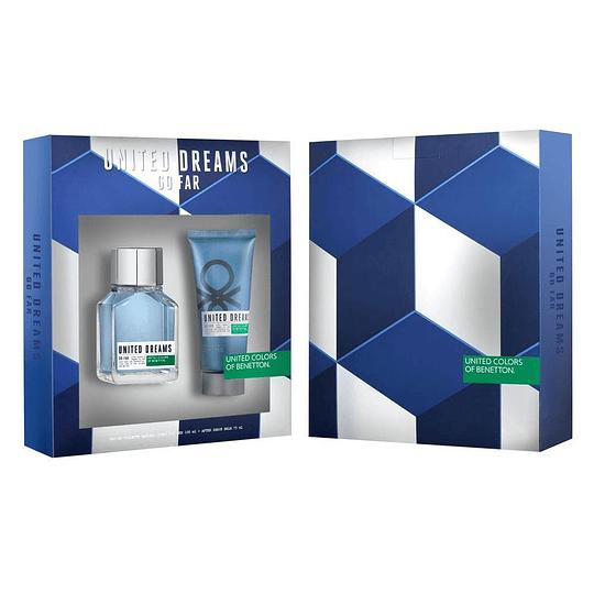 United Dreams Go Far para hombre / SET - 100 ml Eau De Toilette Spray