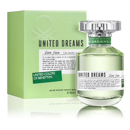 United Dreams Live Free para mujer / 80 ml Eau De Toilette Spray