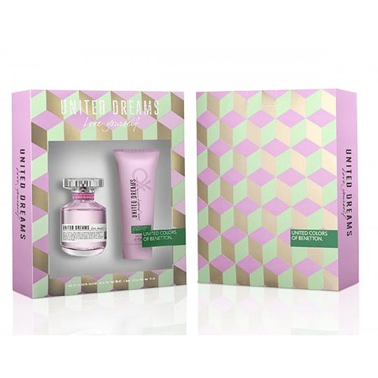 United Dreams Love Yourself para mujer / SET - 80 ml Eau De Toilette Spray