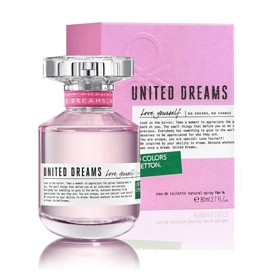 United Dreams Love Yourself para mujer / 80 ml Eau De Toilette Spray